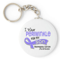 I Wear Periwinkle 42 Son Esophageal Cancer Keychain