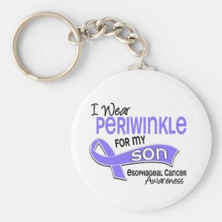 I Wear Periwinkle 42 Son Esophageal Cancer Keychain
