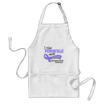 I Wear Periwinkle 42 Uncle Esophageal Cancer Adult Apron