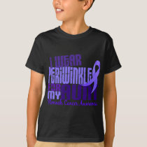 I Wear Periwinkle Aunt 6.4 Stomach Cancer T-Shirt