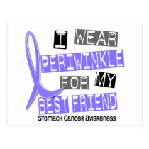 I Wear Periwinkle Best Friend 37 Stomach Cancer Postcard
