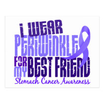 I Wear Periwinkle Best Friend 6.4 Stomach Cancer Postcard