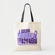 I Wear Periwinkle Boyfriend 6.4 Esophageal Cancer Tote Bag