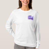 I Wear Periwinkle Boyfriend 6.4 Stomach Cancer T-Shirt