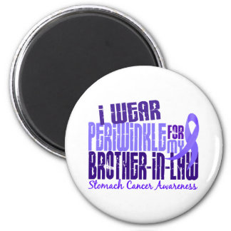 I Wear Periwinkle Brother-In-Law 6 Stomach Cancer 2 Inch Round Magnet