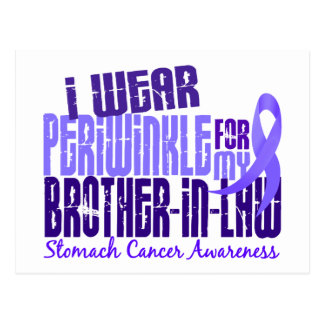 I Wear Periwinkle Brother-In-Law 6 Stomach Cancer Postcard