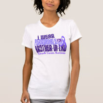I Wear Periwinkle Brother-In-Law 6 Stomach Cancer T-Shirt