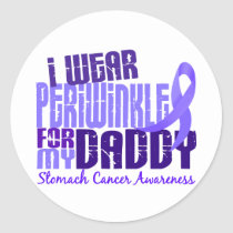 I Wear Periwinkle Daddy 6.4 Stomach Cancer Classic Round Sticker