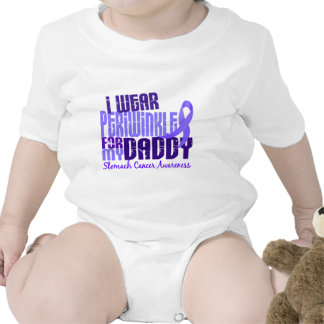 I Wear Periwinkle Daddy 6 4 Stomach Cancer T Shirt