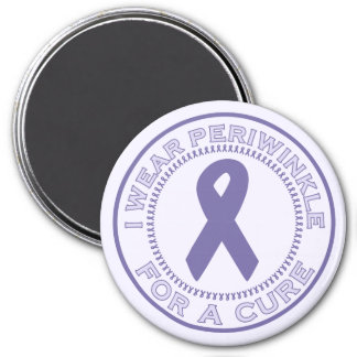 I Wear Periwinkle For A Cure 3 Inch Round Magnet
