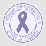 I Wear Periwinkle For A Cure Classic Round Sticker