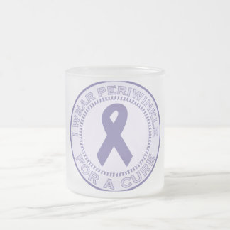 I Wear Periwinkle For A Cure Frosted Glass Coffee Mug