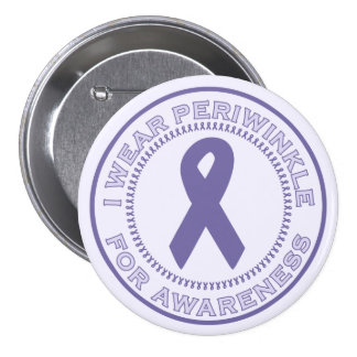 I Wear Periwinkle For Awareness Pinback Buttons