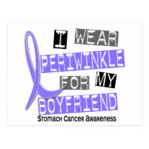 I Wear Periwinkle For Boyfriend 37 Stomach Cancer Postcard