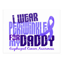 I Wear Periwinkle For Daddy 6.4 Esophageal Cancer Postcard