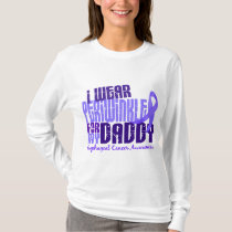 I Wear Periwinkle For Daddy 6.4 Esophageal Cancer T-Shirt