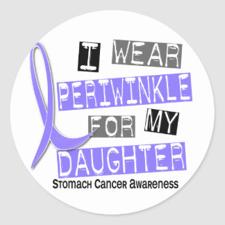 I Wear Periwinkle For Daughter 37 Stomach Cancer Classic Round Sticker