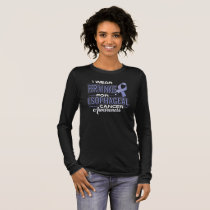 I Wear Periwinkle For Esophageal Cancer Awareness Long Sleeve T-Shirt