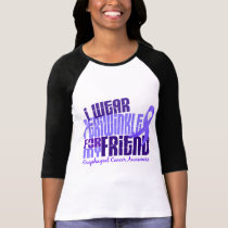 I Wear Periwinkle For Friend 6.4 Esophageal Cancer T-Shirt