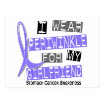 I Wear Periwinkle For Girlfriend 37 Stomach Cancer Postcard
