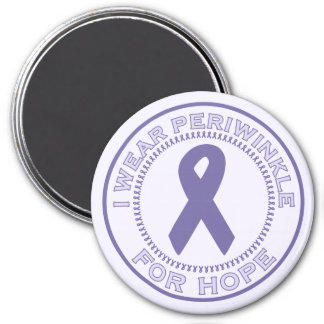 I Wear Periwinkle For Hope 3 Inch Round Magnet