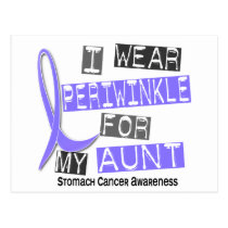I Wear Periwinkle For My Aunt 37 Stomach Cancer Postcard