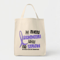 I Wear Periwinkle For My Aunt 37 Stomach Cancer Tote Bag