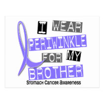 I Wear Periwinkle For My Brother 37 Stomach Cancer Postcard