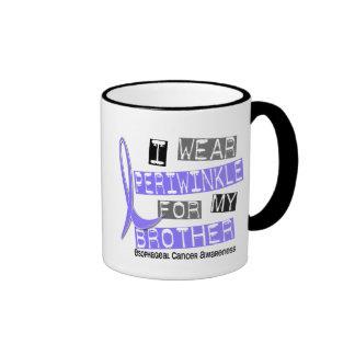 I Wear Periwinkle For My Brother Esophageal Cancer Ringer Mug