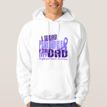 I Wear Periwinkle For My Dad 6.4 Esophageal Cancer Hoodie