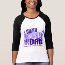 I Wear Periwinkle For My Dad 6.4 Esophageal Cancer T-Shirt