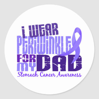 I Wear Periwinkle For  My Dad 6.4 Stomach Cancer Classic Round Sticker