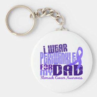 I Wear Periwinkle For  My Dad 6.4 Stomach Cancer Keychain