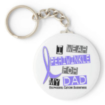 I Wear Periwinkle For My Dad Esophageal Cancer Keychain