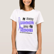 I Wear Periwinkle For My Daddy 37 Stomach Cancer T-Shirt