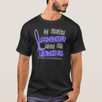 I Wear Periwinkle For My Father 37 Stomach Cancer T-Shirt