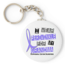 I Wear Periwinkle For My Grandma Esophageal Cancer Keychain