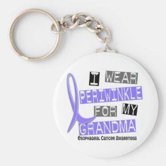 I Wear Periwinkle For My Grandma Esophageal Cancer Keychain