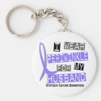 I Wear Periwinkle For My Husband 37 Stomach Cancer Keychain