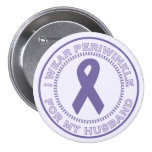 I Wear Periwinkle For My Husband Buttons