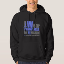 I Wear Periwinkle For My Husband Esophageal Cancer Hoodie