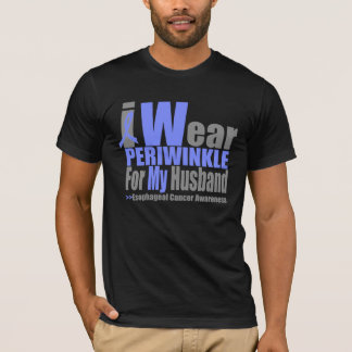 I Wear Periwinkle For My Husband Esophageal Cancer T-Shirt