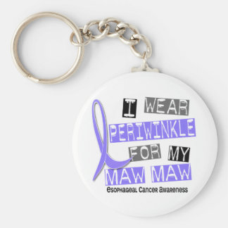 I Wear Periwinkle For My Maw Maw Esophageal Cancer Basic Round Button Keychain