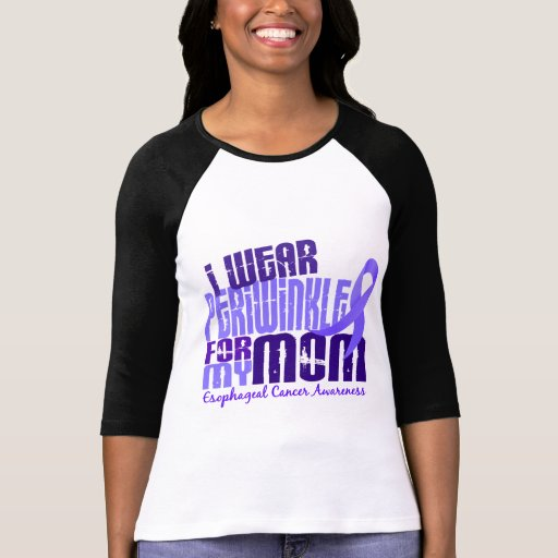 I Wear Periwinkle For My Mom 6.4 Esophageal Cancer T-shirt