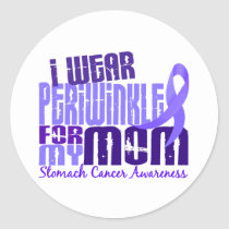 I Wear Periwinkle For My Mom 6.4 Stomach Cancer Classic Round Sticker