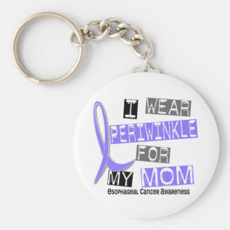 I Wear Periwinkle For My Mom Esophageal Cancer Keychain