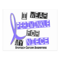 I Wear Periwinkle For My Niece 37 Stomach Cancer Postcard
