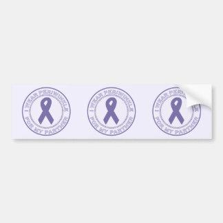 I Wear Periwinkle For My Partner Bumper Sticker