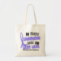 I Wear Periwinkle For My Paw Paw Esophageal Cancer Tote Bag