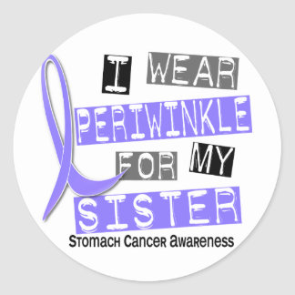 I Wear Periwinkle For My Sister 37 Stomach Cancer Classic Round Sticker